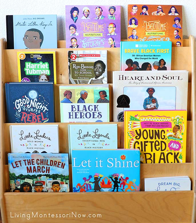 Book Display with Black History Books for Kids