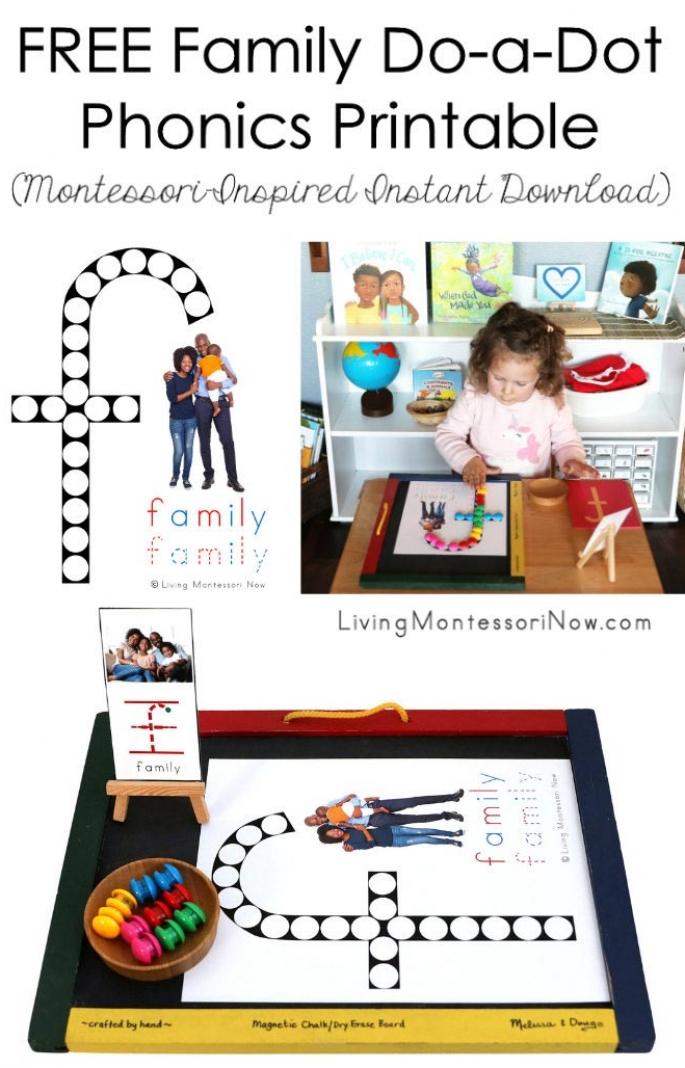FREE Family Do-a-Dot Phonics Printable (Montessori-Inspired Instant Download)