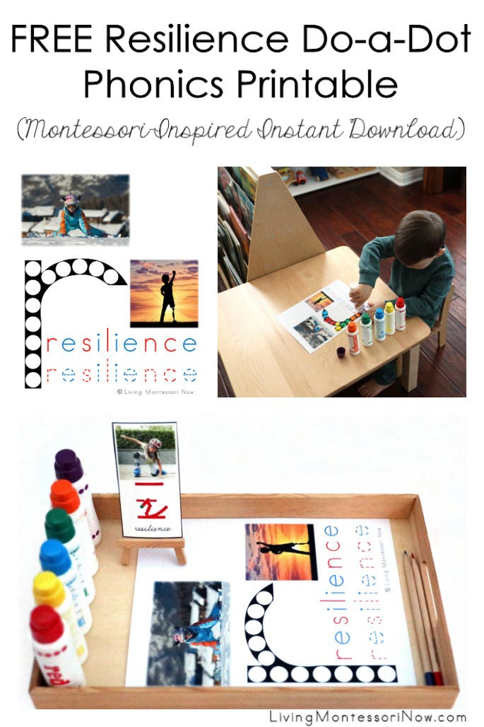 FREE Resilience Do-a-Dot Phonics Printable (Montessori-Inspired Instant Download)