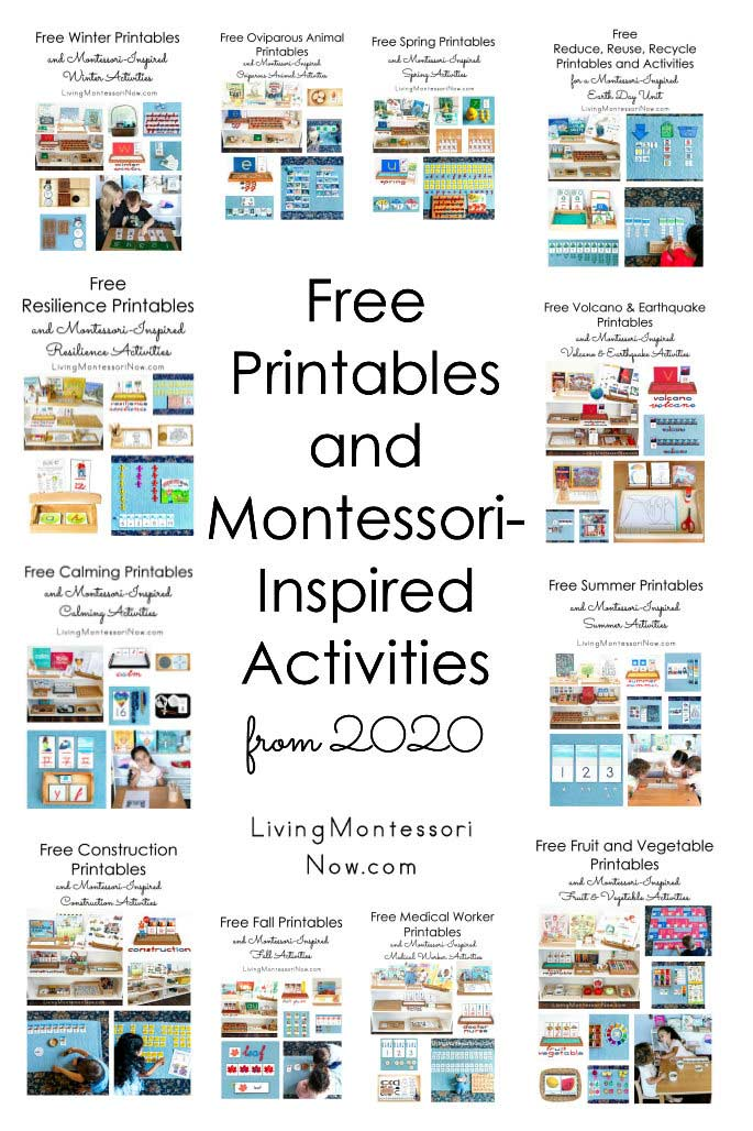 Free Printables and Montessori-Inspired Activities from 2020