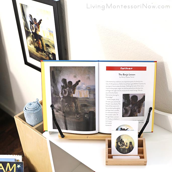 Henry Ossawa Tanner 3-Part Cards and Art Print with Pages from How Artists See Families Book