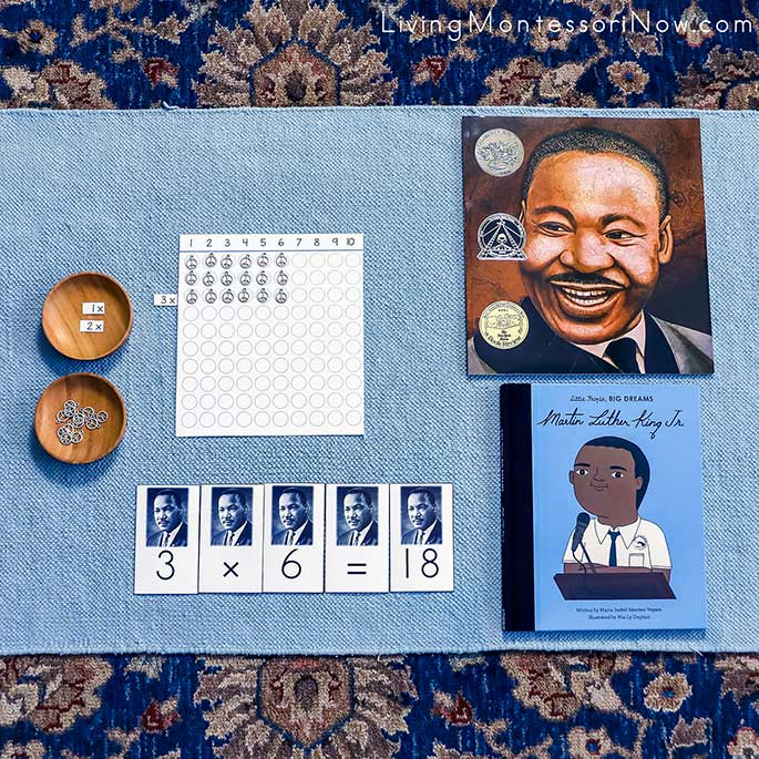 Martin Luther King, Jr, Multiplication Activity with Martin Luther King, Jr, Books