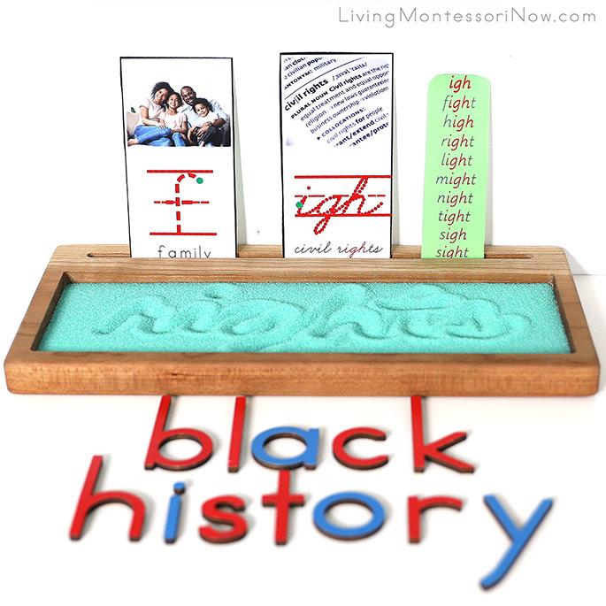Salt Writing Tray for Black History Unit