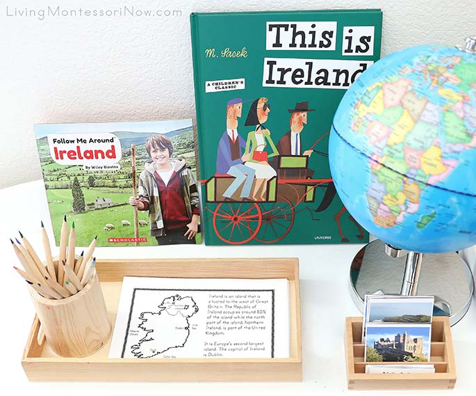 Ireland Books, Bookmaking Tray, and 3-Part Cards