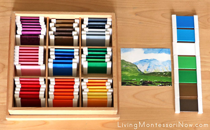 Montessori Color Shade Matching with Irish Landscape (Art Print) by Robert Henri