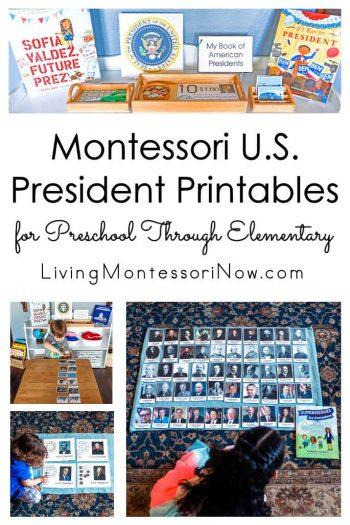 Montessori U.S. President Printables for Preschool Through Elementary