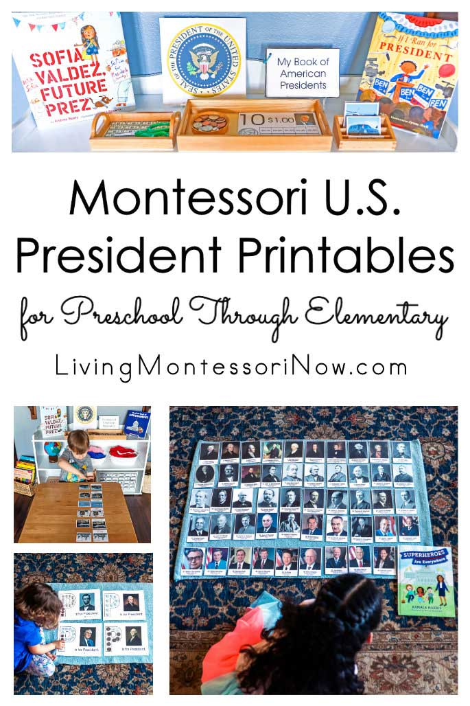 Montessori U.S. President Printables for Preschool Through Elementary