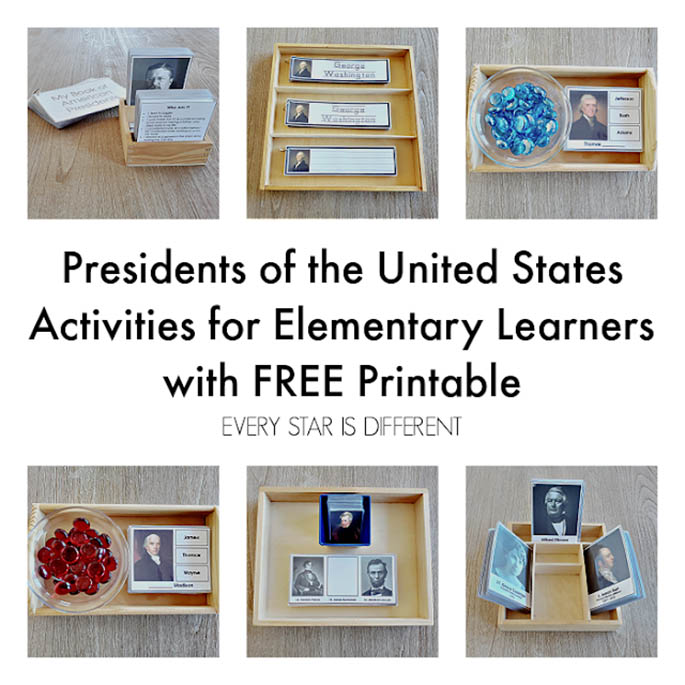 Presidents of the United States Activities for Elementary Learners with Free Printable from Every Star Is Different