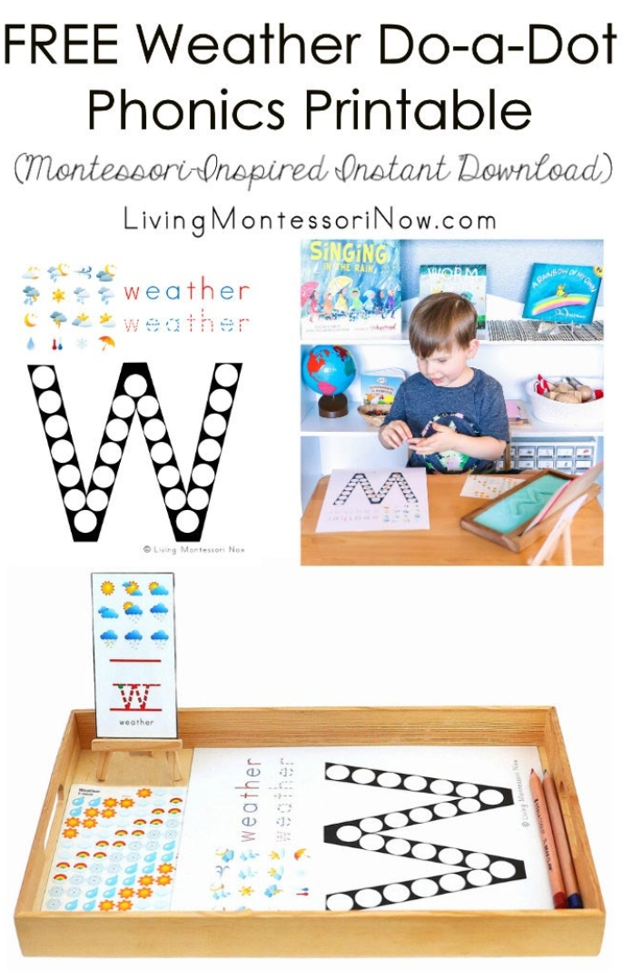 FREE Weather Do-a-Dot Phonics Printable (Montessori-Inspired Instant Download)