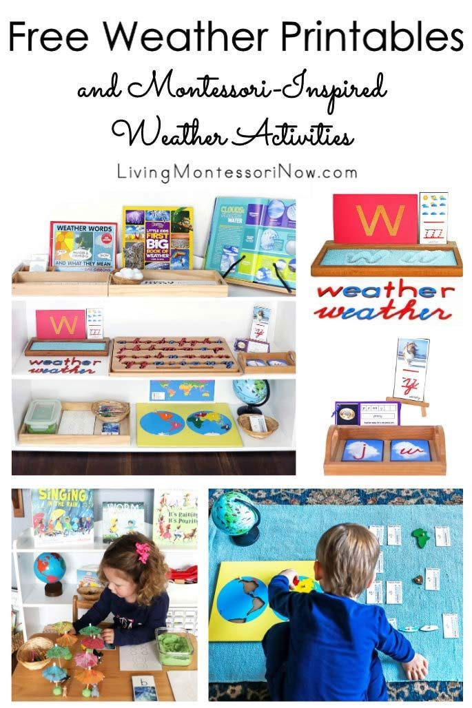 Free Weather Printables and Montessori-Inspired Weather Activities