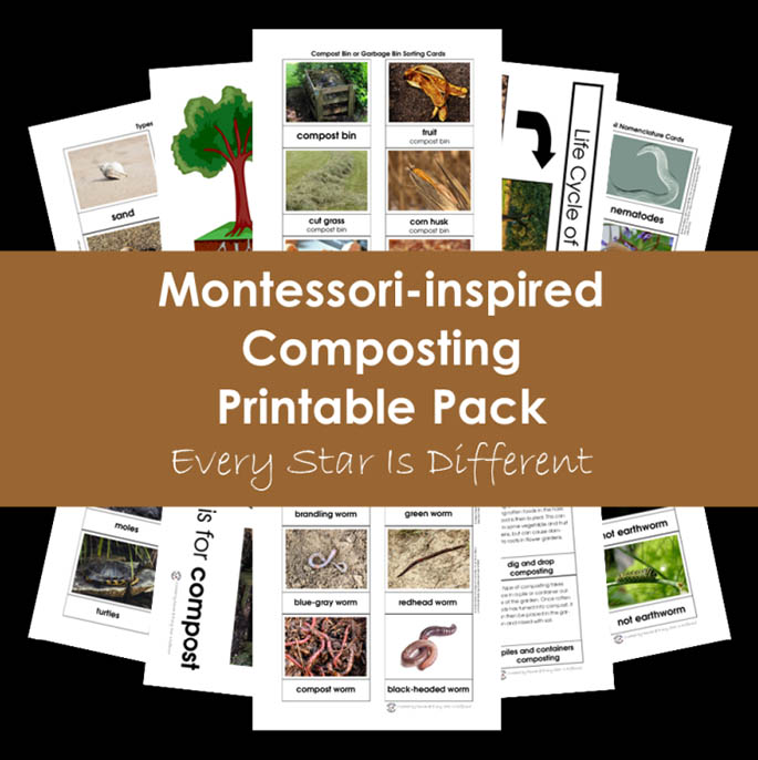 Montessori-Inspired Composting Printable Pack from Every Star Is Different
