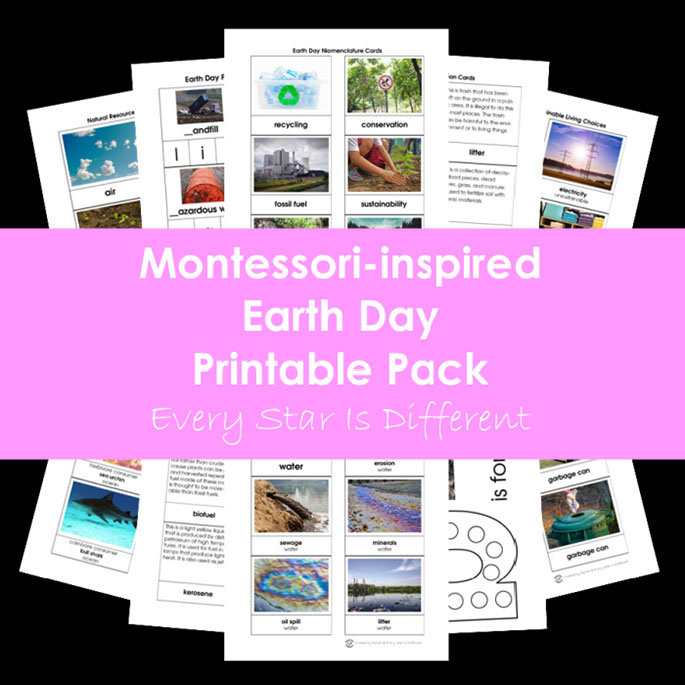 Montessori-Inspired Earth Day Printable Pack from Every Star Is Different