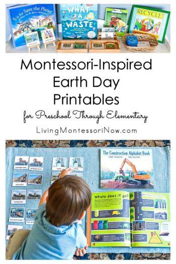 Montessori-Inspired Earth Day Printables for Preschool Through Elementary