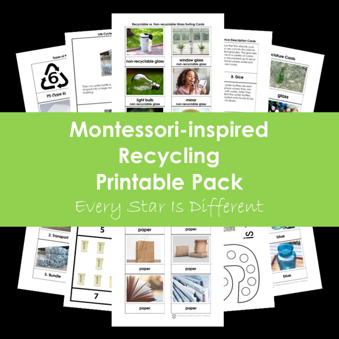 Montessori-Inspired Recycling Printable Pack from Every Star Is Different