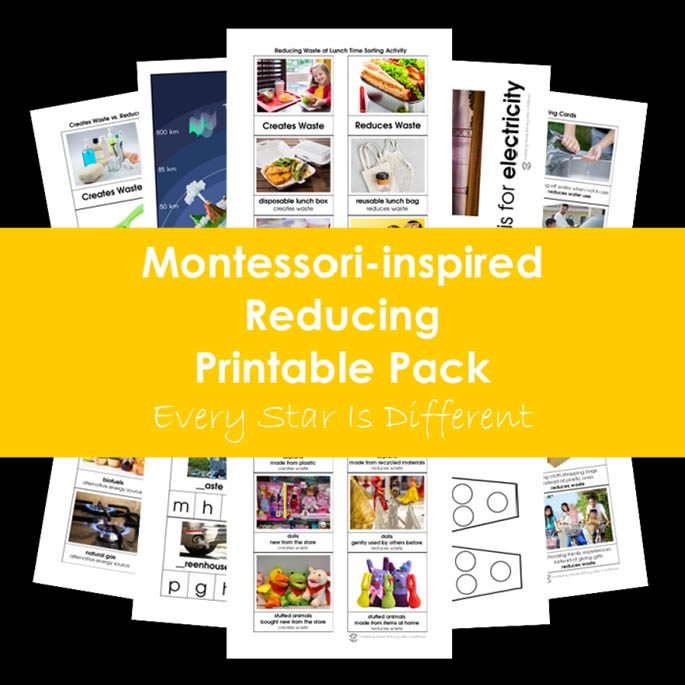 Montessori-Inspired Reducing Printable Pack from Every Star Is Different