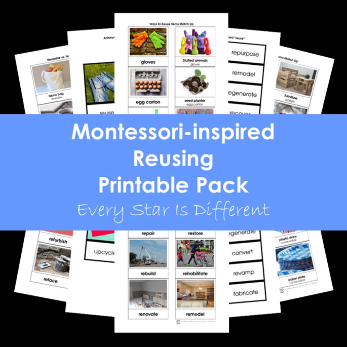 Montessori-Inspired Reusing Printable Pack from Every Star Is Different