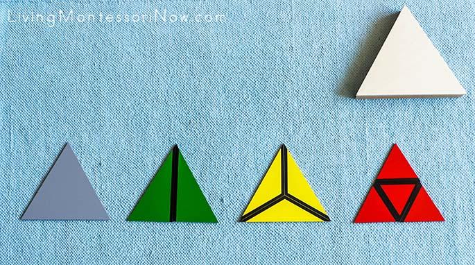 Constructive Triangles - Miniature Triangular Box from Alison's Montessori