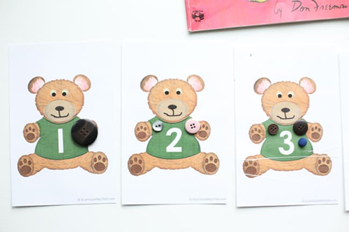 Corduroy Math - Learning with Buttons from I Can Teach My Child