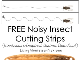 FREE Noisy Insect Cutting Strips (Montessori-Inspired Instant Download)