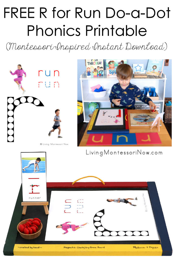 FREE R for Run Do-a-Dot Phonics Printable (Montessori-Inspired Instant Download)