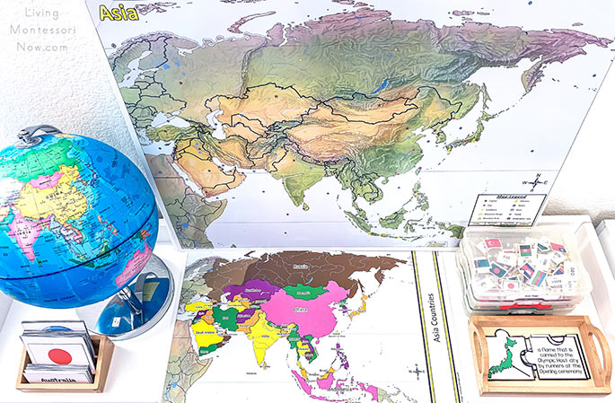 Flag Cards, Olympic Puzzles, and Asia Pin It Map Work