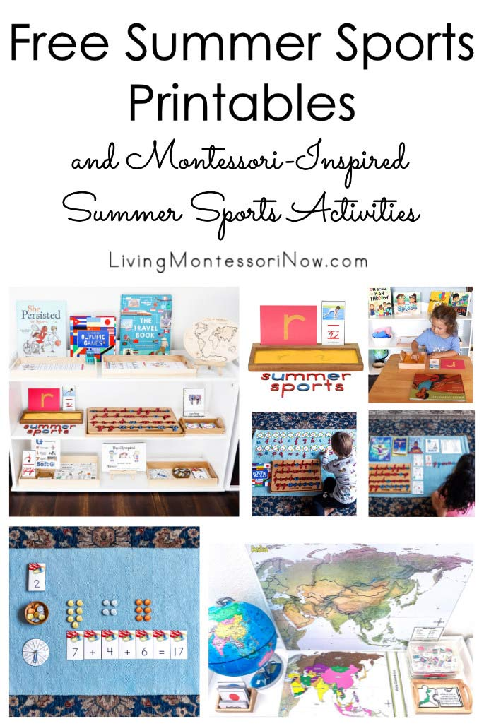 Free Summer Sports Printables and Montessori-Inspired Summer Sports Activities