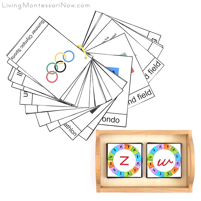 Summer Olympic Sports Booklet with Summer Sports Alphabet Cards