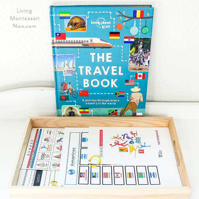 The Travel Book with Tray of Free Olympic Printables for Kids
