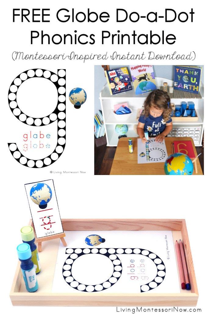 FREE Globe Do-a-Dot Phonics Printable (Montessori-Inspired Instant Download)