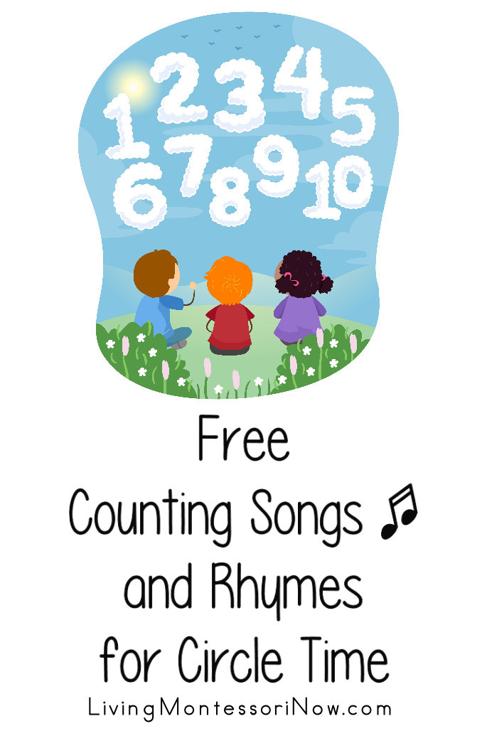 Free Counting Songs and Rhymes for Circle Time {Counting to 5, 10, 20, 30, 50, and 100}