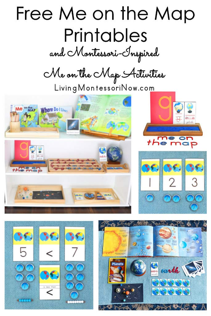 Free Me on the Map Printables and Montessori-Inspired Me on the Map Activities