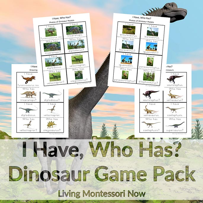 I Have, Who Has? Dinosaur Game Pack