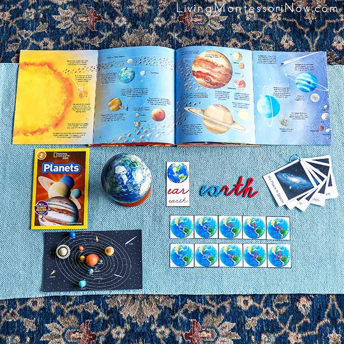 My Place in Space Activity with Solar System and Planet Earth