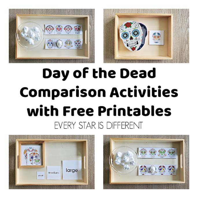 Day of the Dead Comparison Activities with Free Printable from Every Star Is Different