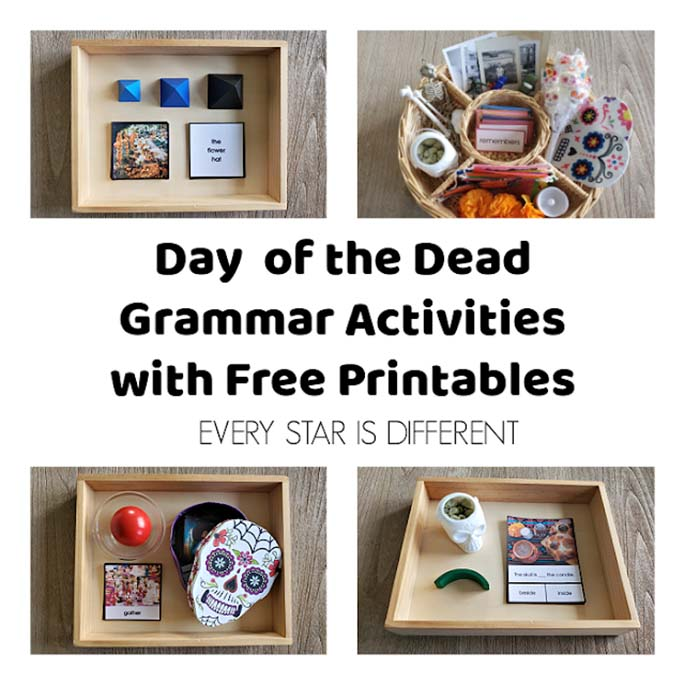 Day of the Dead Grammar Activities with Free Printables from Every Star Is Different