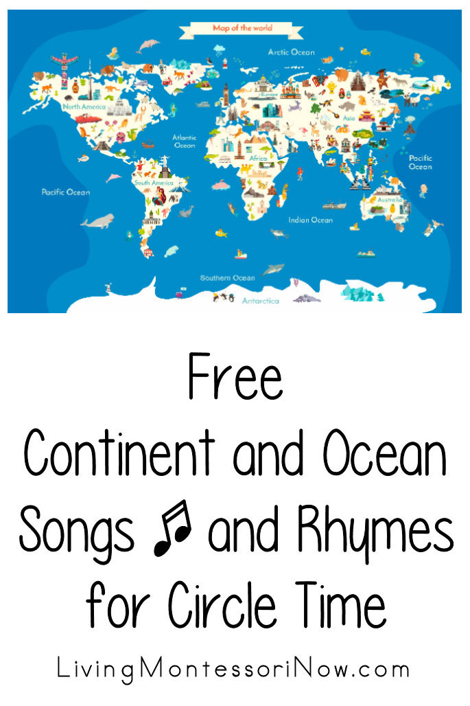 Free Continent and Ocean Songs and Rhymes for Circle Time