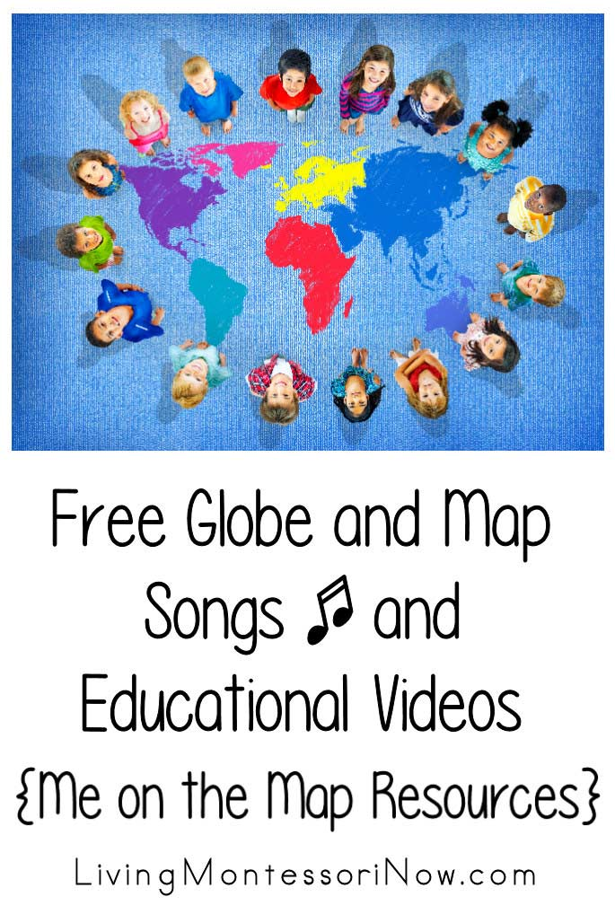 Free Globe and Map Songs and Educational Videos {Me on the Map Resources}