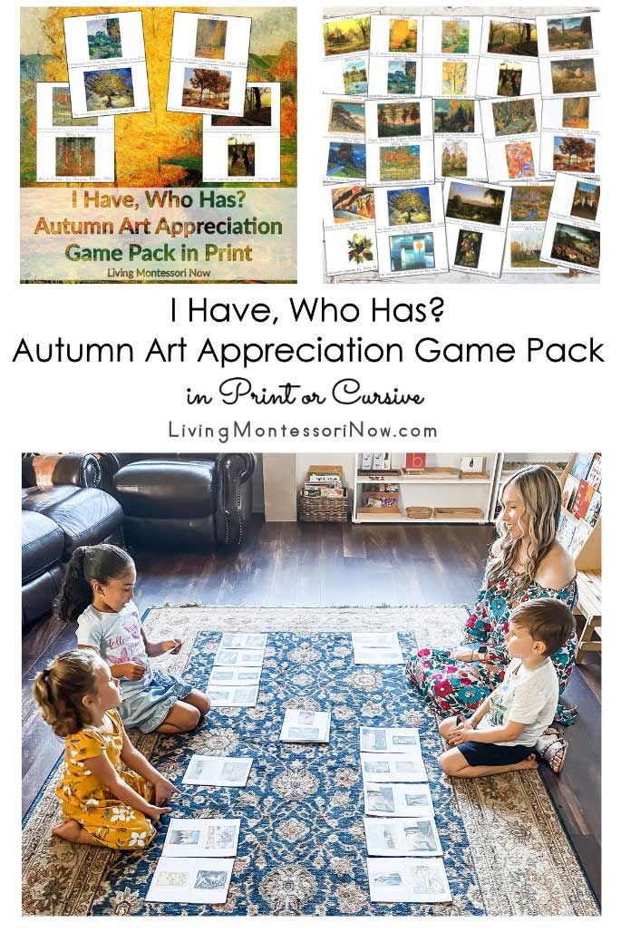 I Have, Who Has Autumn Art Appreciation Game Pack in Print or Cursive