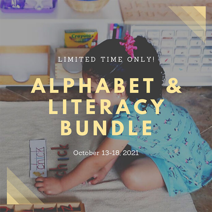 Preschool & Kindergarten Alphabet & Literacy Bundles Special Through Oct. 18!